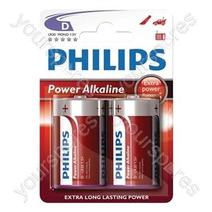Philips Power Alkaline Batteries - Type D