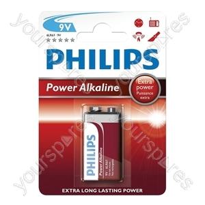 Philips Power Alkaline Batteries - Type PP3