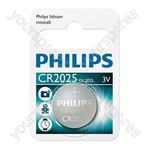 Philips Lithium Button Cell Blister of 1 - Type CR2025