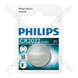 Philips Lithium Button Cell Blister of 1 - Type CR2032