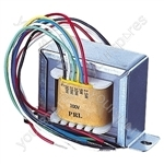 100 V Line Transformer Converting Line Signal To 8/16 Ohm with Tapings 1,2,4 W