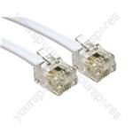 Electrovision White RJ11-RJ11 ADSL MODEM CABLE - Length (m) 3
