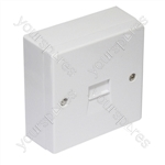 Surface Mounted 2/4A Master Telephone Socket and back box with Screw Connections