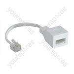 US/UK Adaptor to Convert a UK BT Plug into a US RJ11 Plug