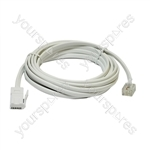 3 m White Replacement Telephone Line Cord