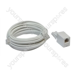 ADSL Modem Lead (US to US Plugs) with UK to US Adaptor - Length (m) 3