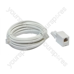 ADSL Modem Lead (US to US Plugs) with UK to US Adaptor - Length (m) 10