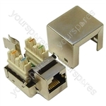 Silver Grey RJ45 Shielded Keystone Jack
