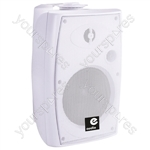 """E-Audio 9"""" Active Wall Mounted Speakers with Brackets and Bluetooth 4.0 - Colour White"""
