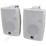 E-Audio 60w Active Wall Mounted Speakers with Bluetooth & Auxiliary Input - Colour White