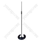 Microphone Stand with Stacking Horseshoe Base
