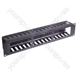 """Eagle Cable Tidy Panel With Cover For All 19"""" Cabinets and Racks - Size 2U"""