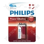 Philips Power Alkaline Batteries - Type PP3
