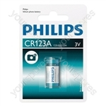 Philips ExtremeLife Photo Lithium CR123A B1