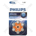 Philips Hearing Aid Battery 6 Pack - Type ZA13