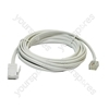 6 m White Replacement Telephone Line Cord