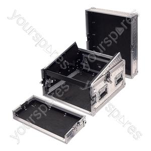Full Flight Rack Case with 10U Mixer Top - Rack Size 4U