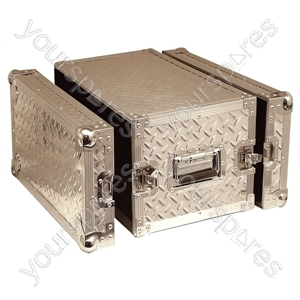 Full Flight Short Rack Case with Front/Back Doors - Rack Size 6U