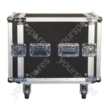 Rack Case On Wheels With Removable Lids front and rear - Rack Size 10U