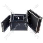 Flight Rack Case with 10U Mixer Top - Rack Size 6U
