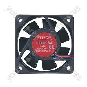 12 V DC Axial Flow Fan - Size 15x60x60mm