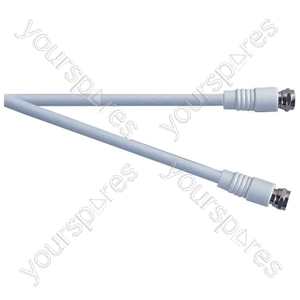 Standard F Type Plug to F Type Plug TV and Video Lead White - Lead Length (m) 0.5