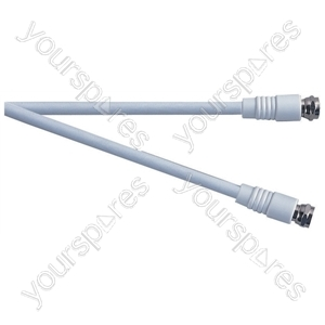 Standard F Type Plug to F Type Plug TV and Video Lead White - Lead Length (m) 3