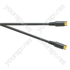 Premium Gold Plated SVHS 4 Pin Plug to SVHS 4 Pin Plug TV and Video Lead - Lead Length (m) 3