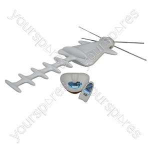 Outdoor Digital DVB-T Antenna Kit with Remote Control