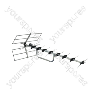 Digital Wide band TV Aerial With Wiring Kit - Number of Elements 44