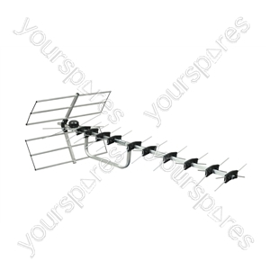Digital Wide band TV Aerial With Wiring Kit - Number of Elements 52