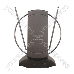 Wideband Digital DVB-T Indoor TV & Radio Antenna with Amplifier