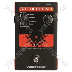 TC HELICON Voicetone R1 - Vocal Tuned Reverb Stompbox