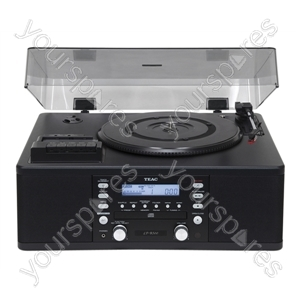 Teac LPR500 Turntable with CD burner, Cassette Tape Player, Vinyl Record Player and AM/FM radio