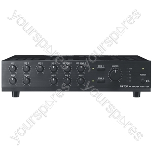 TOA A1700 Series 100 V Line Amplifiers - Power RMS (W) 120