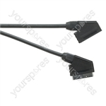 Standard Scart Plug to Scart Socket TV and Video Lead All Pins Connected - Lead Length (m) 5