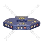 3 Way Audio/Video Input Selector