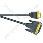 Premium Digital Screened DVID to HDMI Lead Black - Lead Length (m) 2