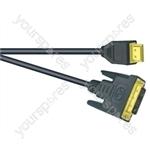 Premium Digital Screened DVID to HDMI Lead Black - Lead Length (m) 5