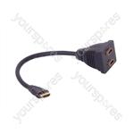 Standard HDMI Plug to 2 x HDMI Sockets Splitter Lead