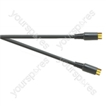 Premium Gold Plated SVHS 4 Pin Plug to SVHS 4 Pin Plug TV and Video Lead - Lead Length (m) 5