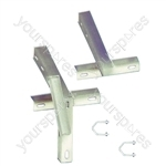 "T&K Aerial Bracket With U Bolts - Length (m) 0.610 (24"")"