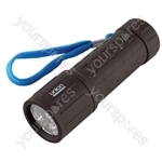 Union LED Rubberised Barrel Torch (Display Pack of 12)