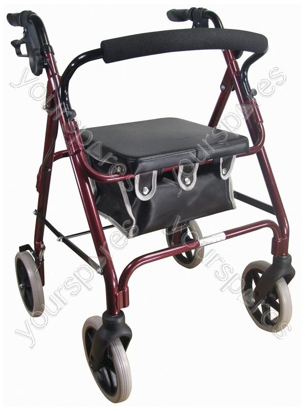 Aidapt Lightweight 4 Wheeled Rollator Colour Red Vp176
