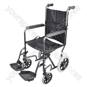 Compact Transport Aluminium Wheelchair - Colour Hammered Effect