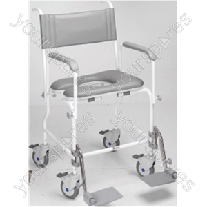 """Aquamaster (A06) Attendant Propelled Shower Commode Chair - Size Seat Width: 480 (19"""")"""