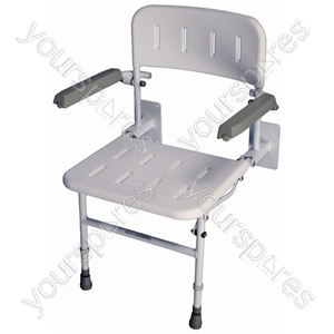 Solo Deluxe Shower Seat - Configuration Standard - No Padding