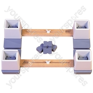 """Adjustable Height and Width Linked Bed Raiser - Size Width: 610 mm (24"""") to 890 mm (35"""")"""