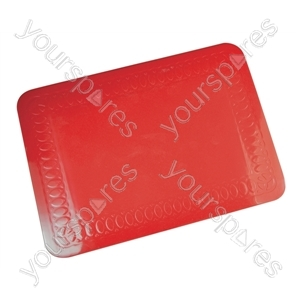 Tenura Silicone Rubber Anti Slip Rectangular Mat 25.5x18.5 cm - Colour red