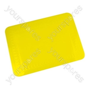 Tenura Silicone Rubber Anti Slip Rectangular Mat 25.5x18.5 cm - Colour yellow